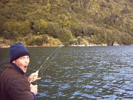 Wow . . . Phil Richards Flyfishing at one of the river mouths in Lake Waikaremoana
