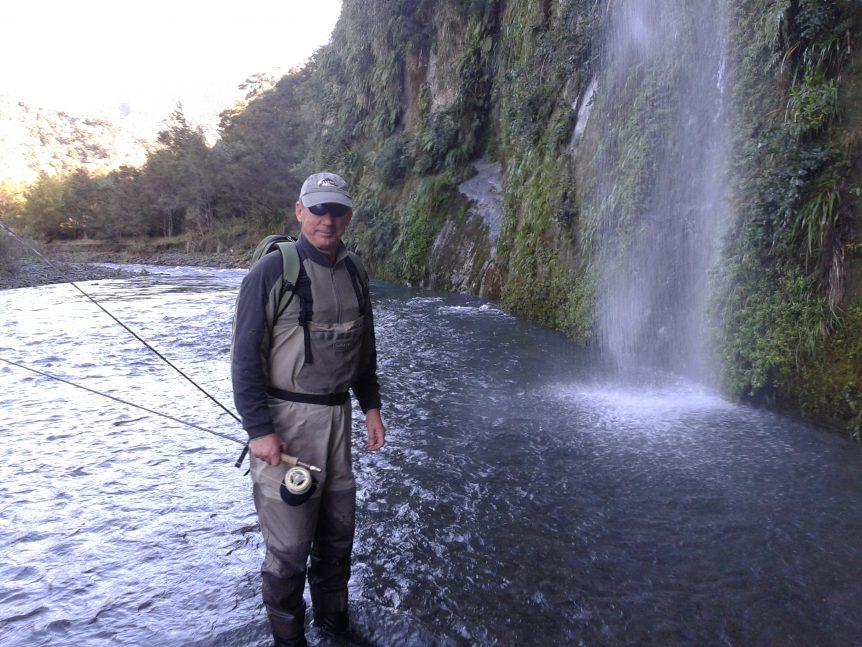 avid Chapman fly fishing in Hawkes Bay