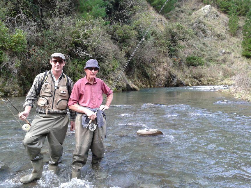 Mark Spence fly fishing Mohaka River