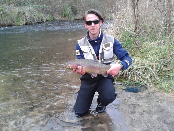 Reiner Souren fly fishing Taupo river