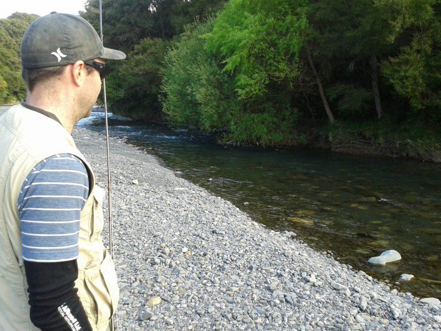 Charlie Turner fly fishing Hawkes Bay