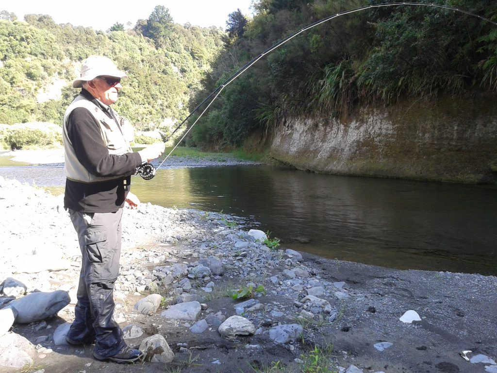 Bruce Anty trout fishing Hawkes Bay