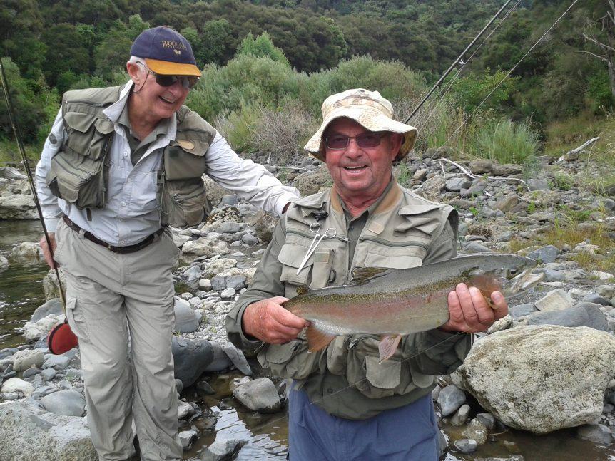 Denis, Ken & Steve on 4 day Hawkes Bay fly fishing trip