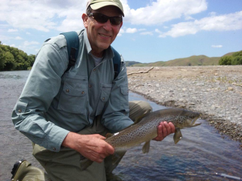 Bert and Taylor fishing Tukituki river