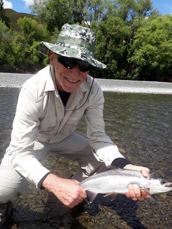 Joseph trout fishing Hawkes Bay rivers..