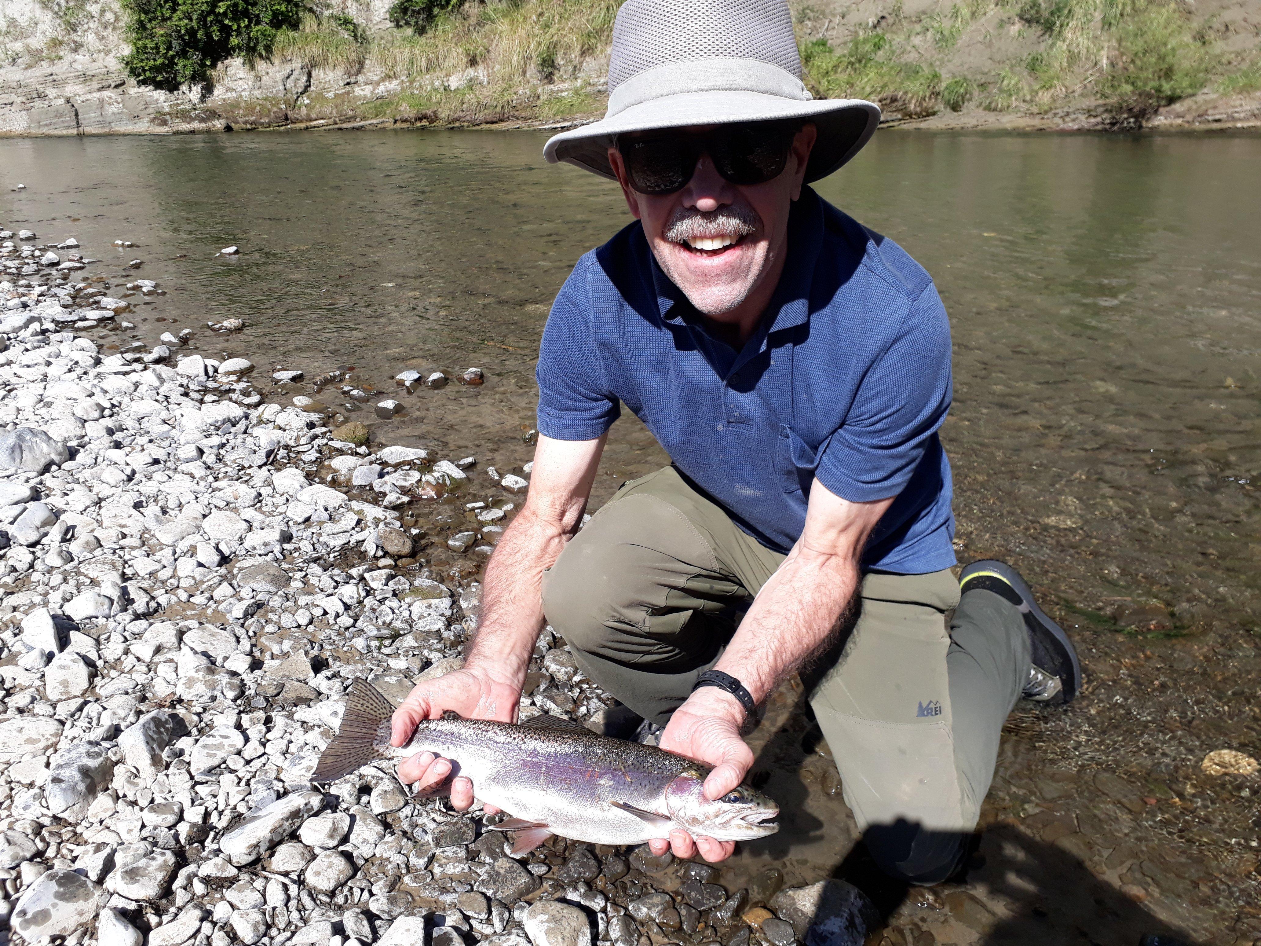 Mark Moore trout fishing on the Tutaekuri river