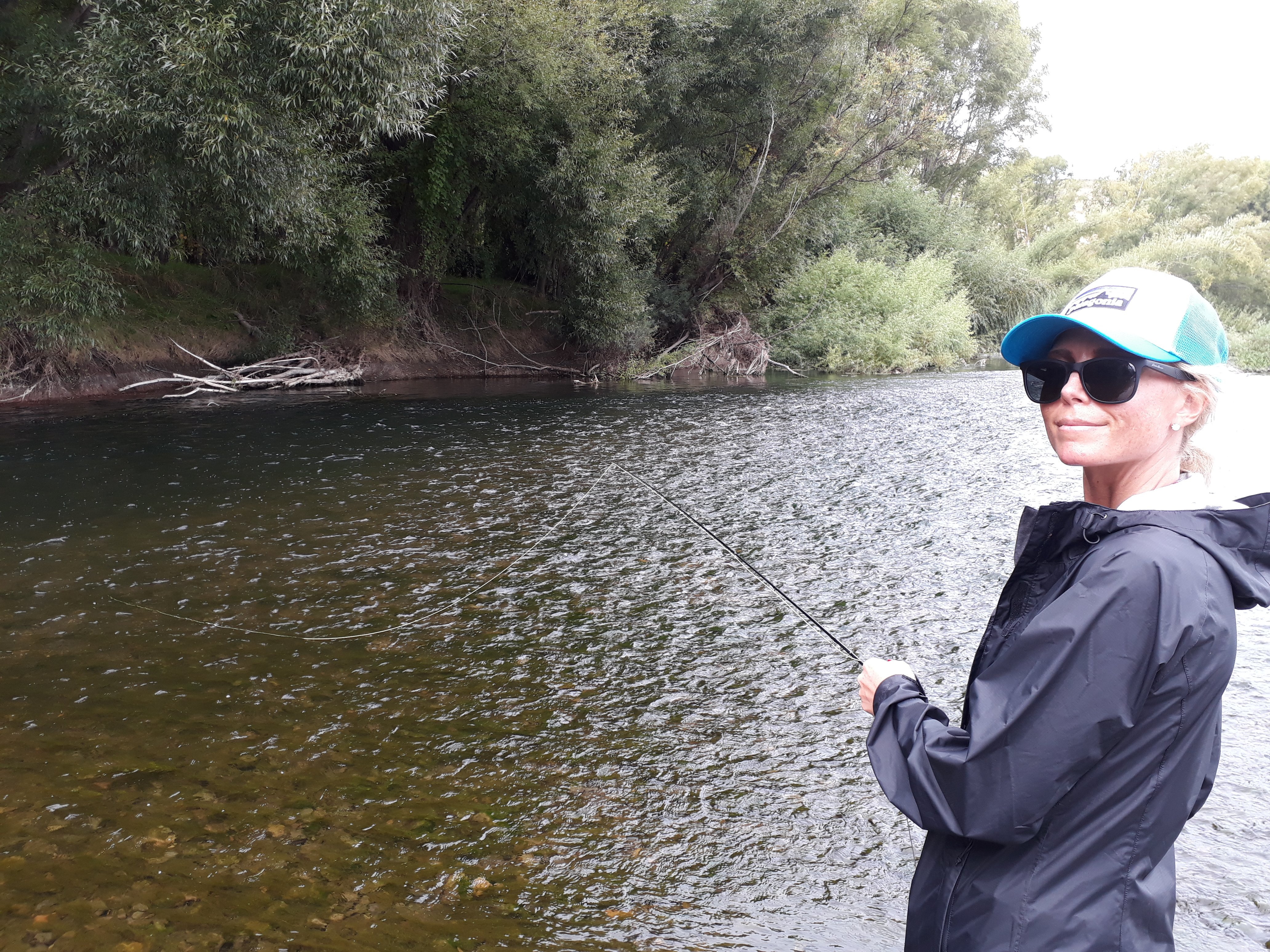 Brigitte's New Zealand fly fishing experience on the Tukituki river, Hawkes Bay