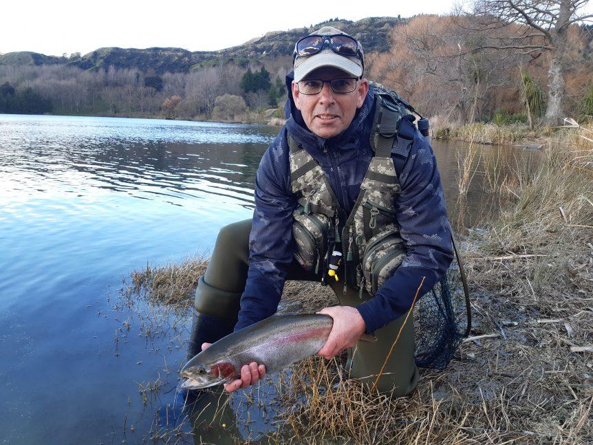 Lake Tutira winter trout fishing with friends, 2019