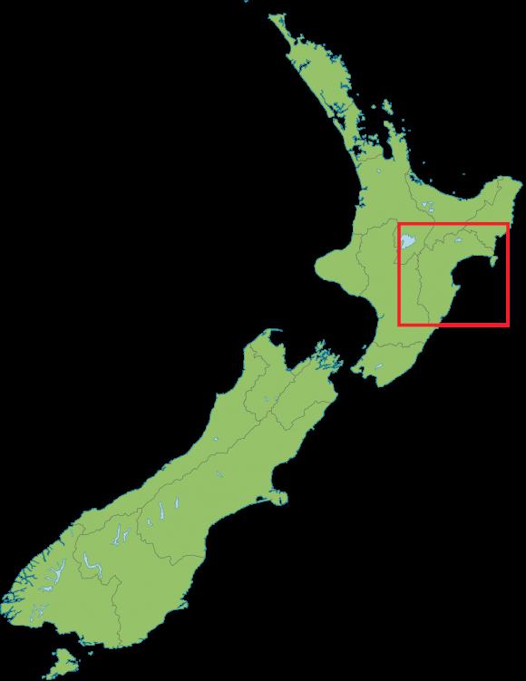 Hawkes Bay New Zealand map