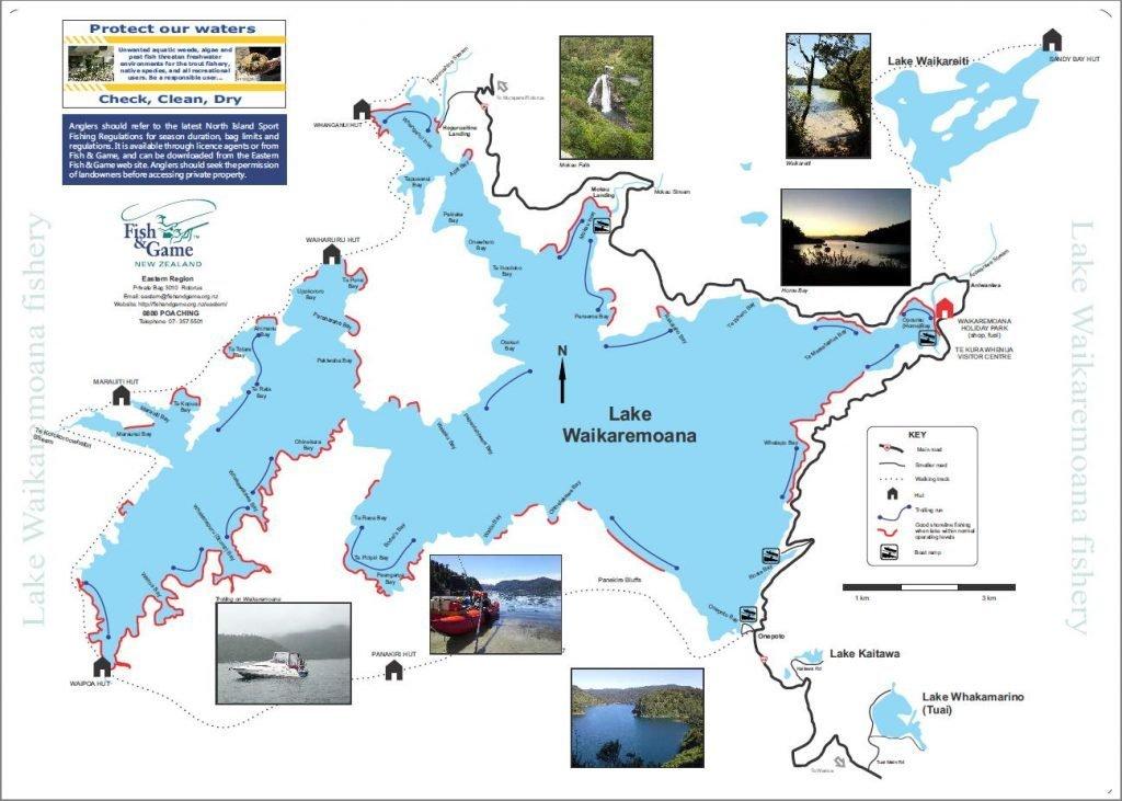 Waikaremoana Trout Fishery Map