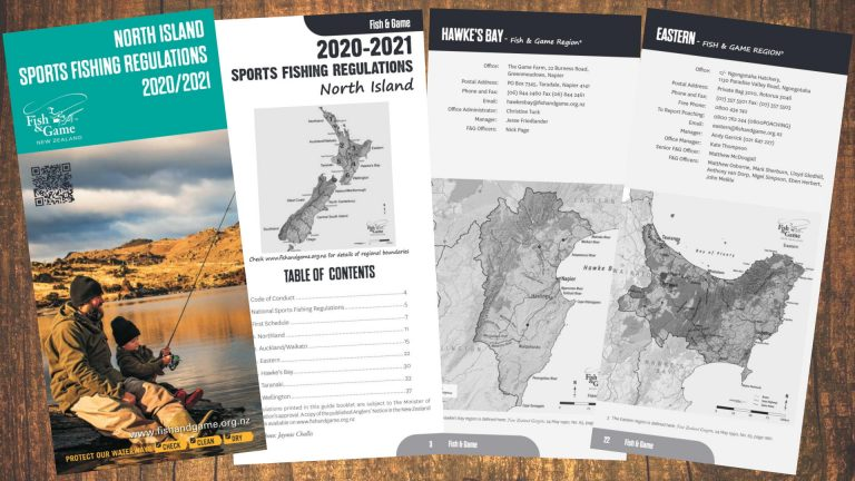 2020/2021 North Island Sports Fishing Regulations